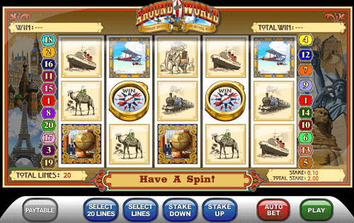 Around the World Slot Reels