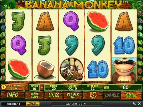 Banana Monkey Slot Reels