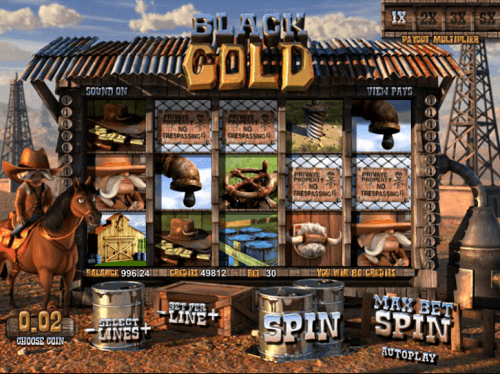 Black Gold Slot Reels