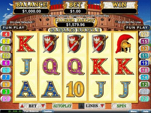 Caesar's Empire Slot Reels
