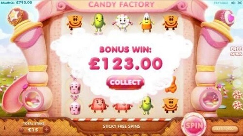 Candy Factory Slot Reels