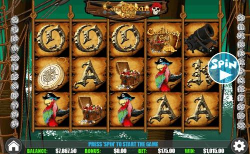 Caribbean- Gold Slot Reels