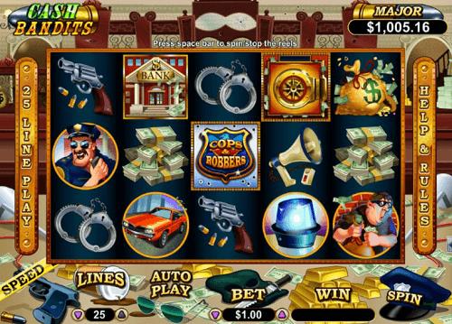 Cash Bandits Slot Reels