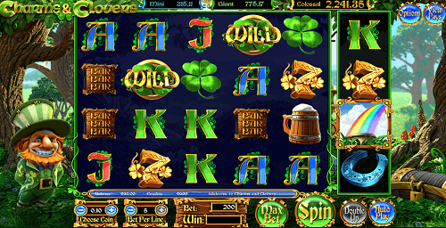 Charms and Clovers Slot Reels