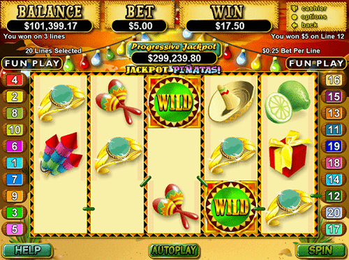 Jackpot Pinatas Slot Reels