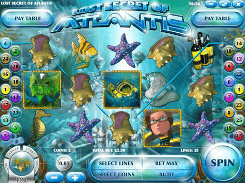 lost secret of atlantis slot reels