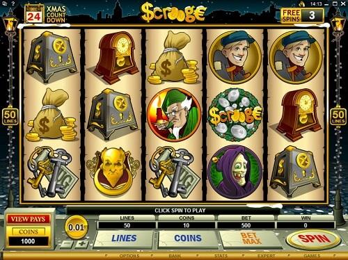 Scrooge Slot Reels