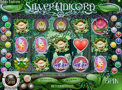 Silver Unicorn Slot Reels