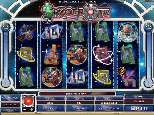 Spacebotz Slot Reels