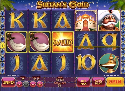 sultans gold slot reels