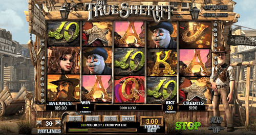The True Sheriff Slot Reels