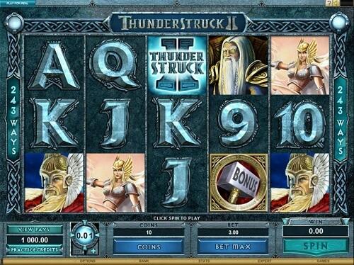 Thunderstruck II Slot Reels
