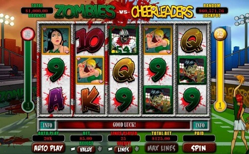Zombies vs Cheerleaders Slot Reels