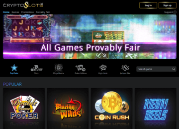 cryptoslots-casino-homepage