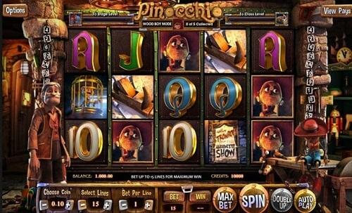 Pinocchio Slot Reels