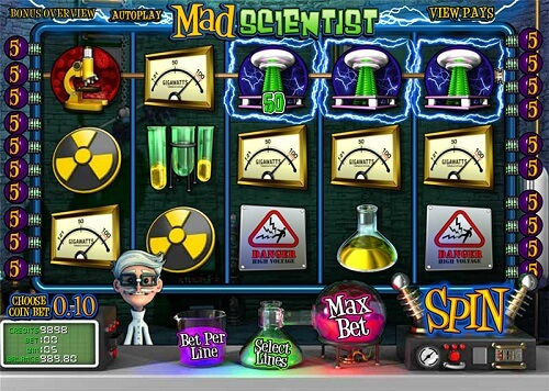 Mad Scientist Slot Reels