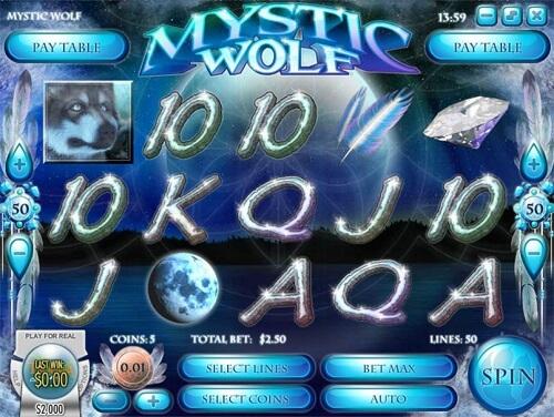 mystic wolf slot reels