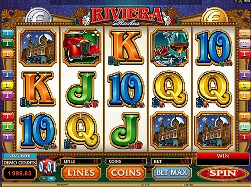 Riviera Riches Slot Reels