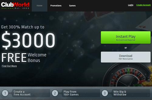 Club World Casino Bonuses