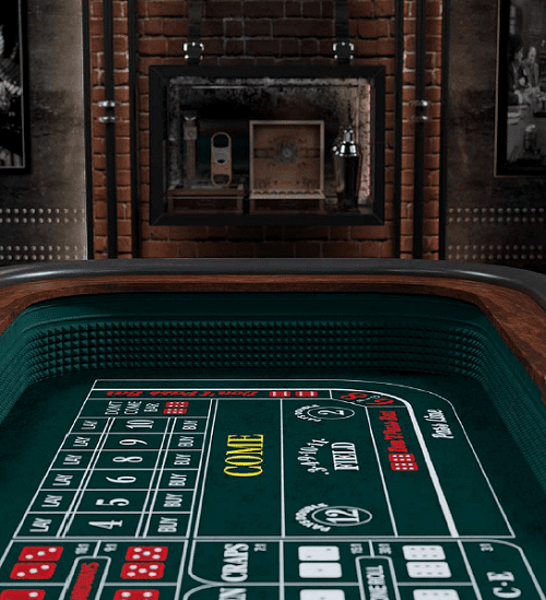 Live Dealer Craps Table