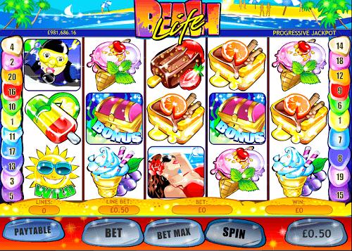 beach-life progressive jackpot slot