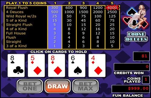 High roller video poker benefits