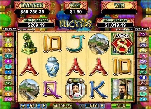 Lucky 8 RTG Slot