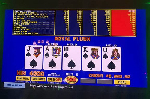 How Much Does A Royal Flush Pay in Video Poker?