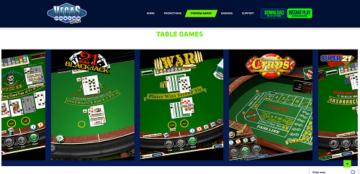 vegas casino online table games