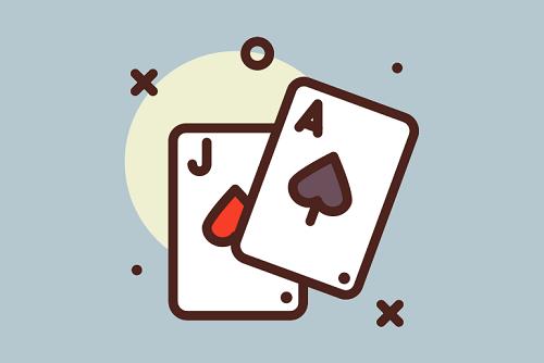 setumpuk kartu blackjack