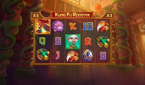 Kung Fu Rooster Slot Reels