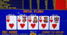 royal flush in video poker