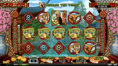 God of Wealth Slot Reels